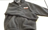 Black embroidered fleece