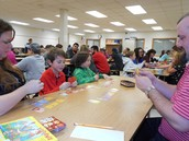 Karson played Sushi go! with his parents and his friend Aiden.