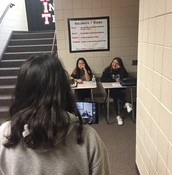 AVID students filming a PSA to convince students/teachers to use Cornell notes for notetaking