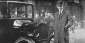 Henry Ford With His Automobile