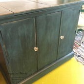 Hand-painted Blue Serving Bar