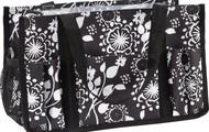 Black Floral Brushstrokes