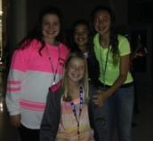 6th graders, Logann D, Brianna G, Mikah F and Emily B