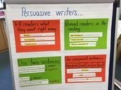 What do persuasive writers do?
