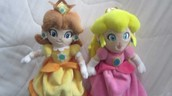 Daisy and Peach Plushies