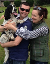 My husband, me and our dog Lily!