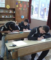 8th grade boys are very active with working on the children's rights