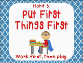FOCUS Teacher Lesson's for Habit 3 (Put First Things First) Week May 9- May 13 29
