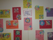 Our snowflake poetry wall - how pretty!!