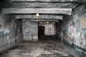 The inside of the gas chamber