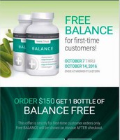 FREE BALANCE with $150 New Customer Order