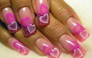 Jasmine Hearts Nails Design
