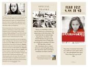 Fear fest play bill page 1