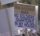 3rd Amendment : Quartering of soldiers