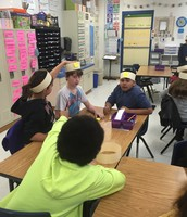 A game of head bands with AVP cards!