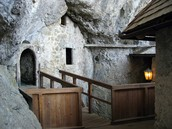 A stairway in the Predjama Castle