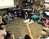 Mrs. Sandusky, our social worker, led a class meeting in our room this week