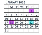 January's Schedule