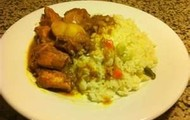 Curry and White Rice