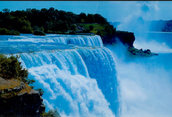 Here is a picture of Niagara Falls in Canada. One of the most famous waterfalls in Canada.