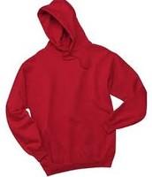 True Red - Hooded Sweatshirt (White Ink) $22.00