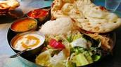 """ Thali"" : A vegetarian Hindu plate"