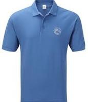 camisa de polo azul