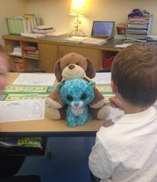 Daniel and Sam working with their buddies!