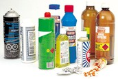 Bleach, disinfectants and other household products