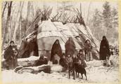 Ojibwe Wigwam in the Winter
