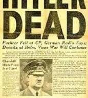 Hitler's announced dead