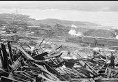 Devastation caused by explosion