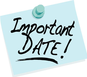 Upcoming Important Dates to Note!