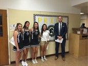 Thanks AHS Cheerleaders For Welcoming Back Our Panthers!