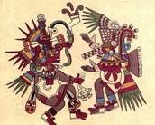Two rival gods Quetzalcoatl and Tezcatlipoca