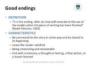 The definition of an ending to help you understand better!