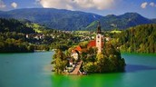 this is Lake Bled
