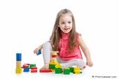Me gustaba jugar con bloques porque me gustaba construir.