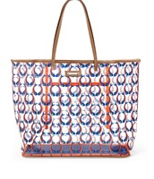 Boardwalk Clear Tote - Marine Blue/Orange Fishtails