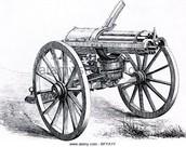 a drawing of the gatling gun