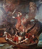 Charles Carroll burning the Peggy Sue