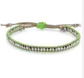 Wanderlust Single Wrap Bracelet Green