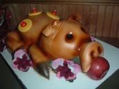 roasted pig cake