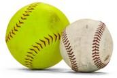 Softball is similiar to baseball