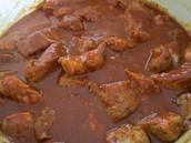 Carne Adovada y salsa con nachos dos mil cincocientos seis  pesos (2.506)