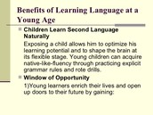 Benefits of Learning Language at a Young Age