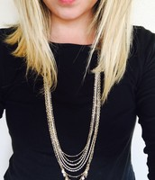 Positano Gold Layered Convertible Necklace