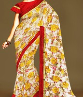 Unnati silks Georgette silk saree