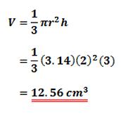 Formula for a Cone