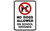 No Dogs on School Grounds